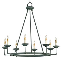 Vernon Simple Industrial 8 Light Open Chandelier
