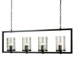Glacerie Rectangular Modern 12 Light Island Chandelier