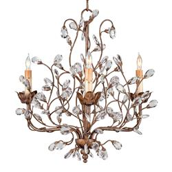 Enchanted Forest Crystal Bud 3 Light Chandelier