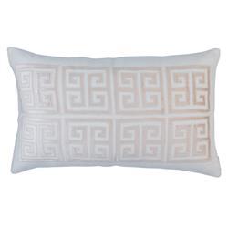 Lili Alessandra Guy Regency Basketweave Pillow - Blush Pink Rectangle
