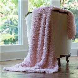 Lili Alessandra Coco Sheer Ruffle Throw - Blush Pink