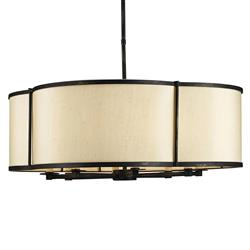 Laura French Beige Contemporary 8 Light Chandelier