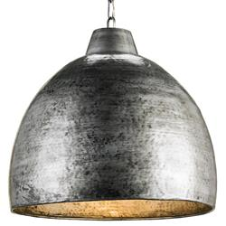 Industrial Loft Hammered Metal Modern 1 Light Pendant