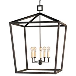 Darden 4 Light Industrial Chic Open Lantern Pendant - 26 Inch