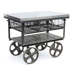 Industrial Loft Console Merchandise Island Bar Table