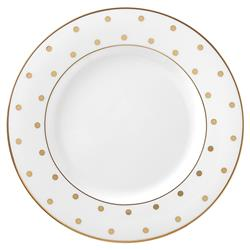 "Lenox Kate Spade New York Larabee Road Gold 8"" Salad Plate"