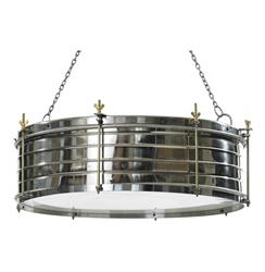 Boston Industrial Steel Adjustable Height Drum Pendant Lamp