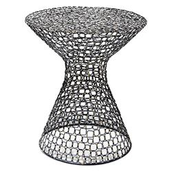 Interlude Dendara Modern Hourglass Sculptural Wire Frame Table