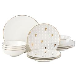 Lenox Trianna White 12 Piece Dinnerware Set