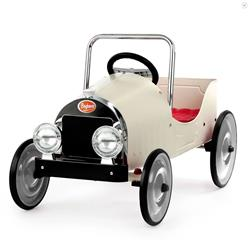 Baghera French Kids White Pedal Classic Toy Car