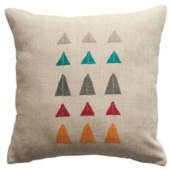 Leah Singh Modern Hand Embroidered Arizona Mountain Pillow Cover