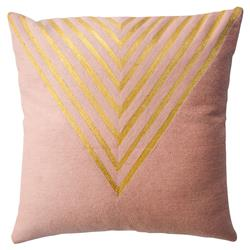 Leah Singh Modern Hand Embroidered Katherine Triangle Pillow Cover
