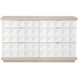 Lucille Modern Classic White Grey Wood Fancy Face Dresser