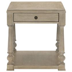 Sarabeth Modern French Brown Wood Side End Table