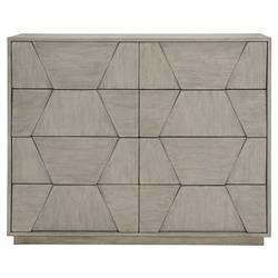 Landon Modern Masculine Grey Fancy Face Wood Dresser