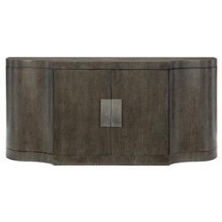 Landon Modern Masculine Charcoal Brown Wood Buffet Sideboard