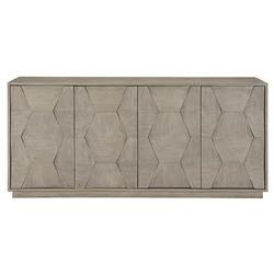 Landon Modern Masculine Grey Wood Buffet Sideboard