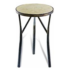 Madison Rustic Forged Iron Side Table | 125053