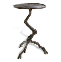 Steamboat Tree Branch Modern Rustic Side Table | 125054