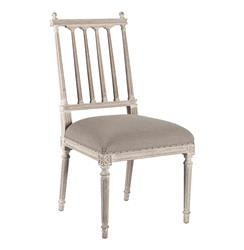Pair Coyle Shabby French Antique White Dining Chair