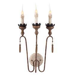Pair Joni Three Light Shabby French Simple Wall Sconces | AG-WL270