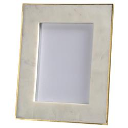 Estelle Modern Classic Gold Edge White Marble Picture Frame - 5x7