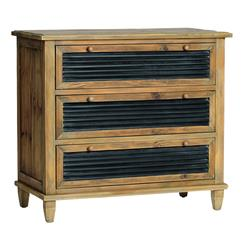 Emma Rustic Reclaimed Wood Iron Chunky Dresser Chest