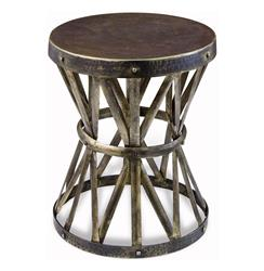 Zemico Rustic Hand Forged Hammered Round Side Table | 125065