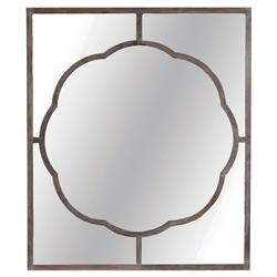 Oliver French Country Scalloped Black Iron Rectangular Wall Mirror