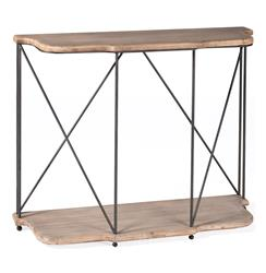 Meghan French Rustic Bleached Oak Console Table | SCH-220280