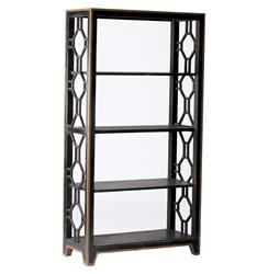 David Gilded Metal Gold Geometric Bookshelf | SCH-220155