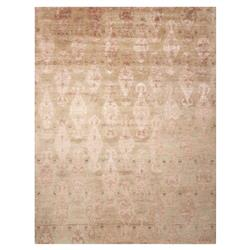 "Serena Modern Classic Sand Ikat Hand Knotted Area Rug - 3'9"" x 5'9"""