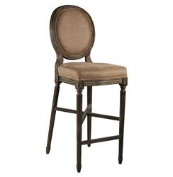 Medallion Oak French Country Bar Stool in Copper Linen | FC010-35 BAR E271 A006