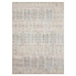 Marjorie Modern Classic Power Loomed Pale Blue Rug - 2x3""