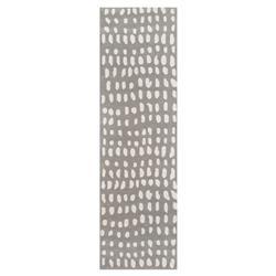 Ava Modern Classic Grey Ivory Boho Dots Rug- Runner