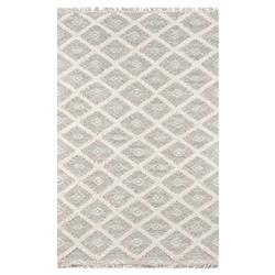 Ella Modern Classic Grey Ivory Geometric Tribal Patterned Rug - 2'x3'