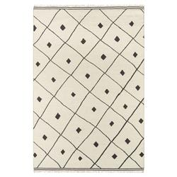 Erin Gates Appleton Modern Ivory Black Diamonds Geometric Rug- 2'x3'