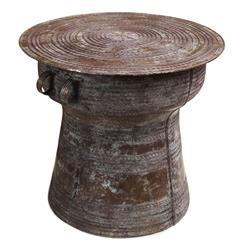 Antique Bronze Reproduction Thai Rain Drum Table- Small