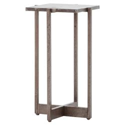 Aileen Modern Classic Aged Bronze Iron Square Top Side End Table