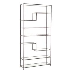 Worthington Natural Iron Modern Wrought Iron Bookcase