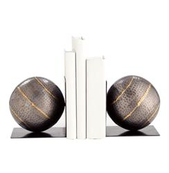 Gauge Hammered Iron Industrial Modern Iron Bookends | Kathy Kuo Home