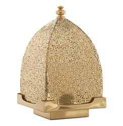 Sullivan Moroccan Pierced Dome Filigree Brass Candle Lantern | ART-6611