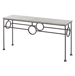 Westerly Industrial Zinc Wrapped Iron Console Table