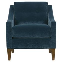 Calhoun Modern Classic Navy Loose Back Wood Accent Chair