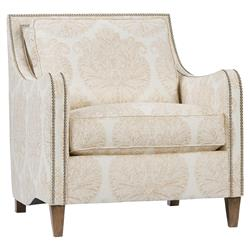 Caro Modern Classic Blush Upholstered Nailhead Trim Club Chair