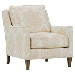 Caro Modern Classic Blush Upholstered Pillow Back Accent Chair