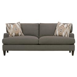 Caspian Modern Classic Brown Upholstered Wood 2 Cushion Sofa