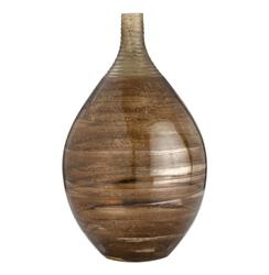 Farris Tobacco Luster Modern Bulbous Decorative Glass Vase | ART-2637