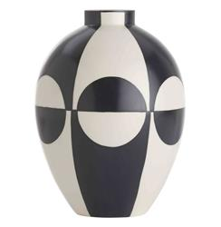 Whitley Black and White Color Block Modernist Porcelain Vase