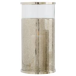 Arteriors Bombay Beach Textured Nickel Glass Hurricane - 18.5H